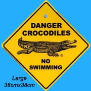 Small Roadsign Crocodile