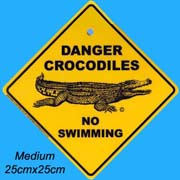 Medium Roadsign Crocodile