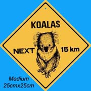 Medium Roadsign Koala