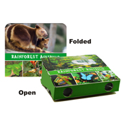 Foldable Binoculars, Rainforest Australia.  3XMagnification.