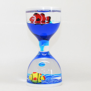 Liquid Timer with Fish Floaters