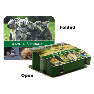 Foldable Binoculars, Wildlife Australia.  3XMagnification.